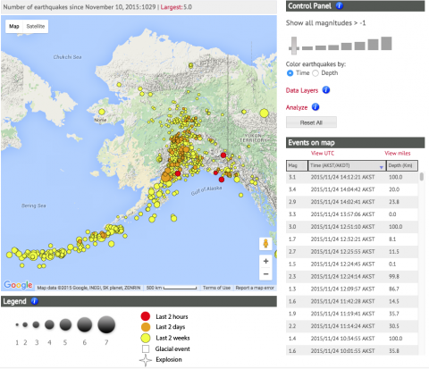 We are live alaska earthquake center the interactive earthquake map lets you view and analyze the earthquakes you are interested in gumiabroncs Choice Image
