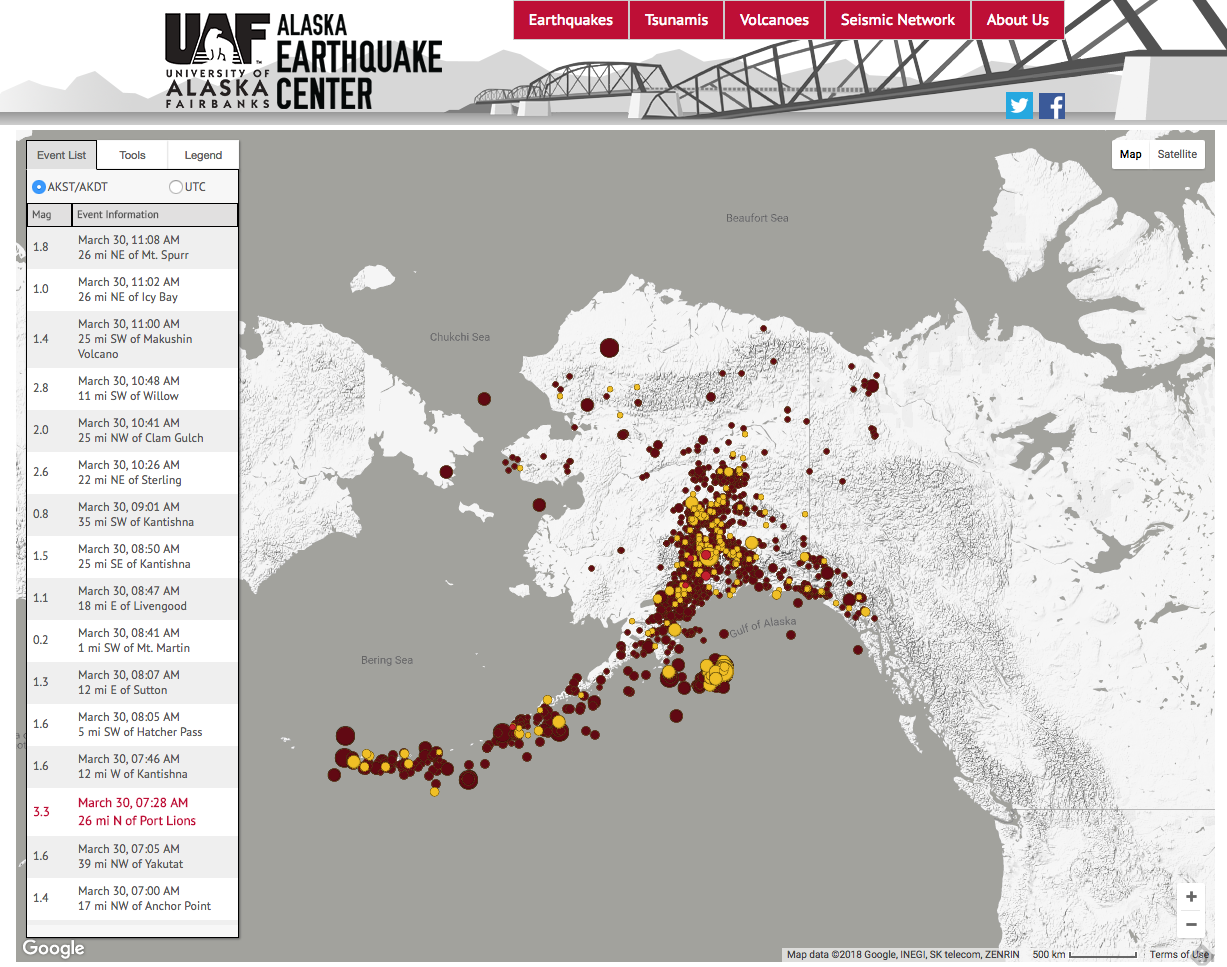 Introducing The Revamped Recent Earthquakes Map Alaska Earthquake