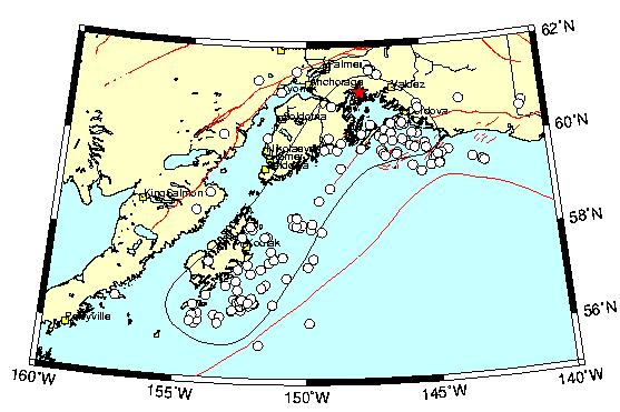 M Great Alaskan Earthquake Alaska Earthquake Center - Alaskan map